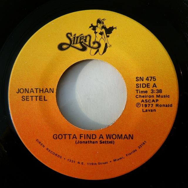 Jonathan Settel Gotta Find A Woman
